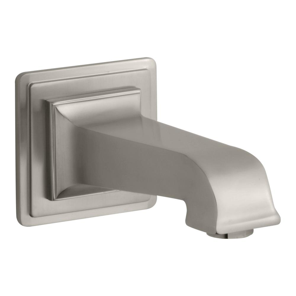 Pinstripe Pure Wall-Mount Bath Spout in Vibrant Brushed Nickel
