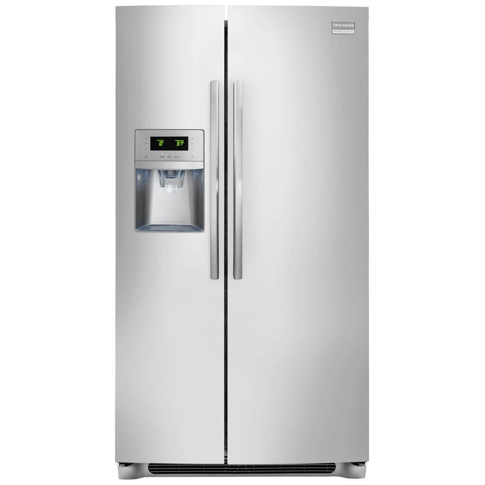 Frigidaire Professional 25.57 cu. ft. Side by Side Refrigerator in Stainless Steel