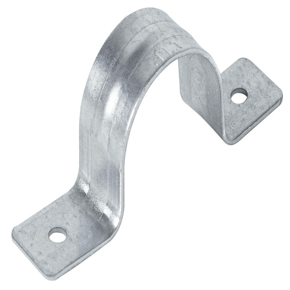 1-1/2 in. Galvanized Low-Carbon Steel 2-Hole Pipe Clip