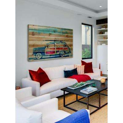 "30 in. H x 45 in. W ""Surf Day"" by Parvez Taj Printed Natural Pine Wood Wall Art"