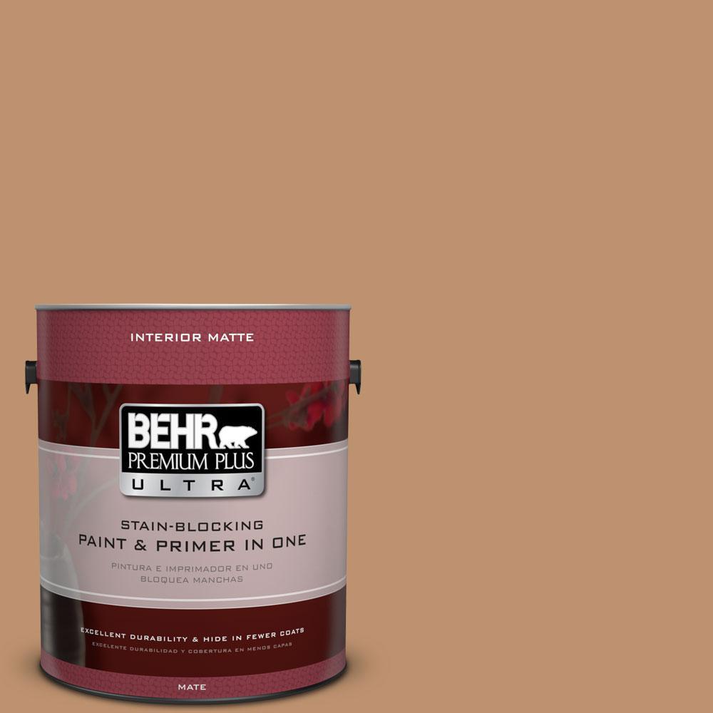BEHR Premium Plus Ultra 1 gal. #PMD-31 Sunset Cloud Flat/Matte Interior Paint