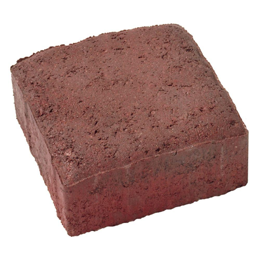 Basalite Plaza 5.5 in. x 5.5 in. Red/Brown/Charcoal Square Concrete Paver