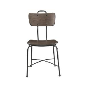 Garron Walnut and Black Side Chair (Set of 2)