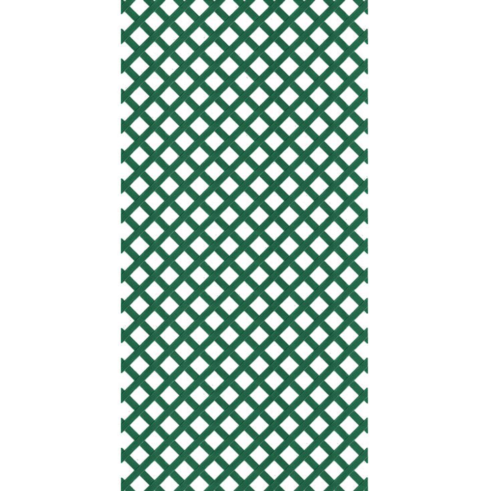 Veranda 4 ft. x 8 ft. Forest Green Garden Vinyl Lattice