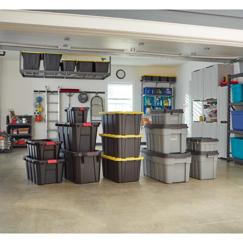 55 Gal. Tough Storage Bin in Black