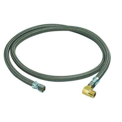 3/8 in. Compression x 3/8 in. Compression x 60 in. Braided Polymer Dishwasher Connector with 3/8 in. Compression Elbow
