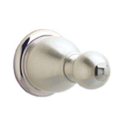 Conical Single Robe Hook in Brushed Nickel