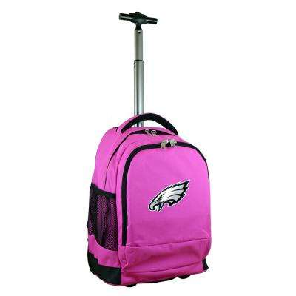 NFL Philadelphia Eagles 19 in. Pink Wheeled Premium Backpack