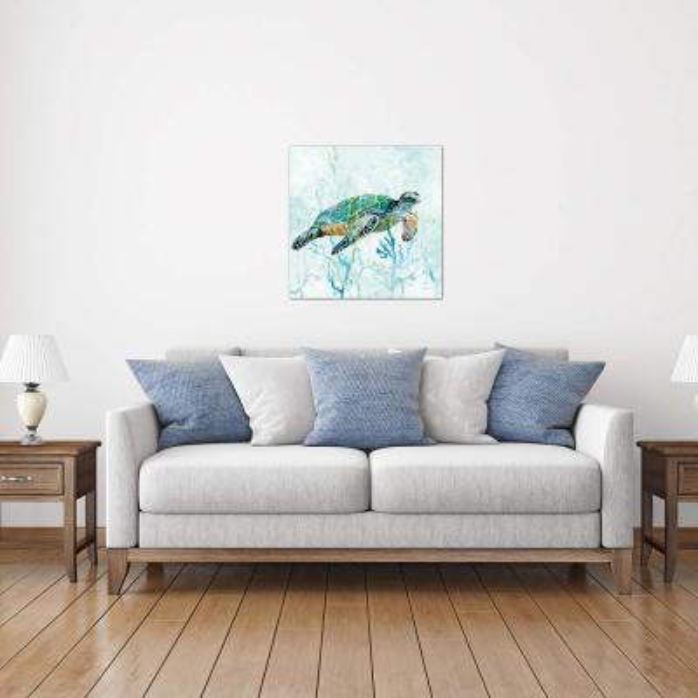 """""""Sea Turtle Swim I"""" by Carol Robinson Canvas Wall Art"""