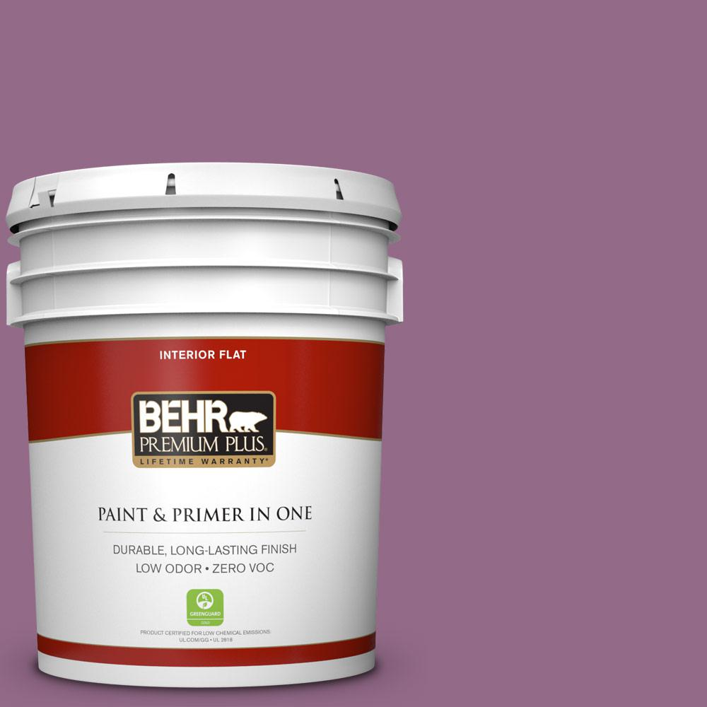 BEHR Premium Plus 5-gal. #M110-6 Sophisticated Lilac Flat Interior Paint