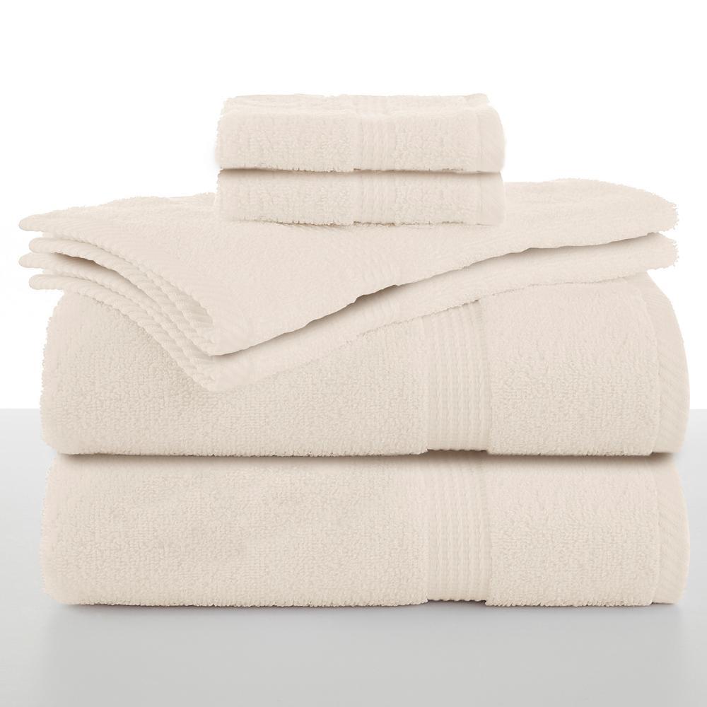 Essentials 6-Piece Cotton Towel Set in Ecru
