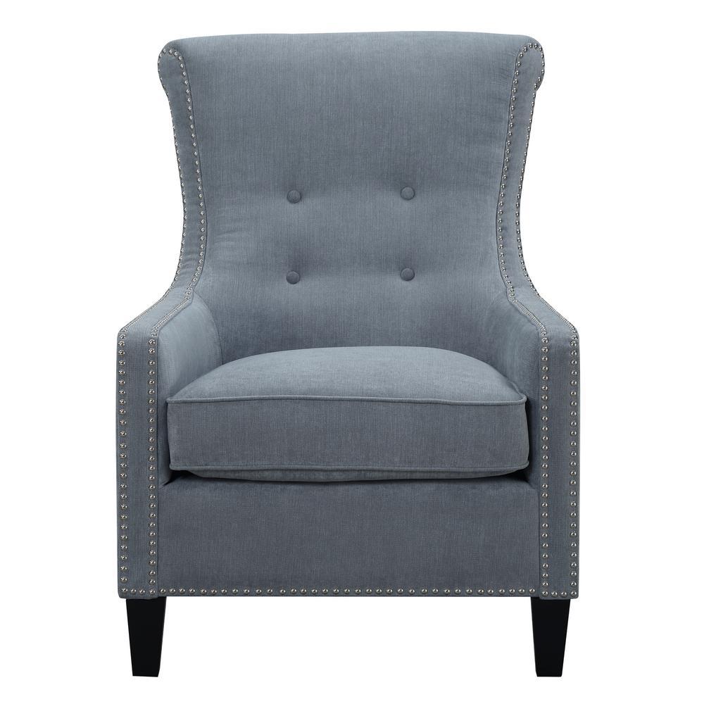 Roger Cornflower Blue Accent Chair