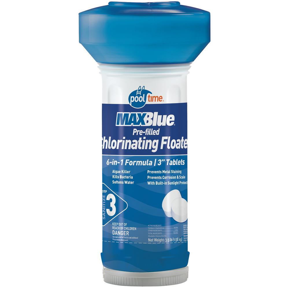 MAXBlue 3.5 lb. Pre-Filled Chlorinating Floater