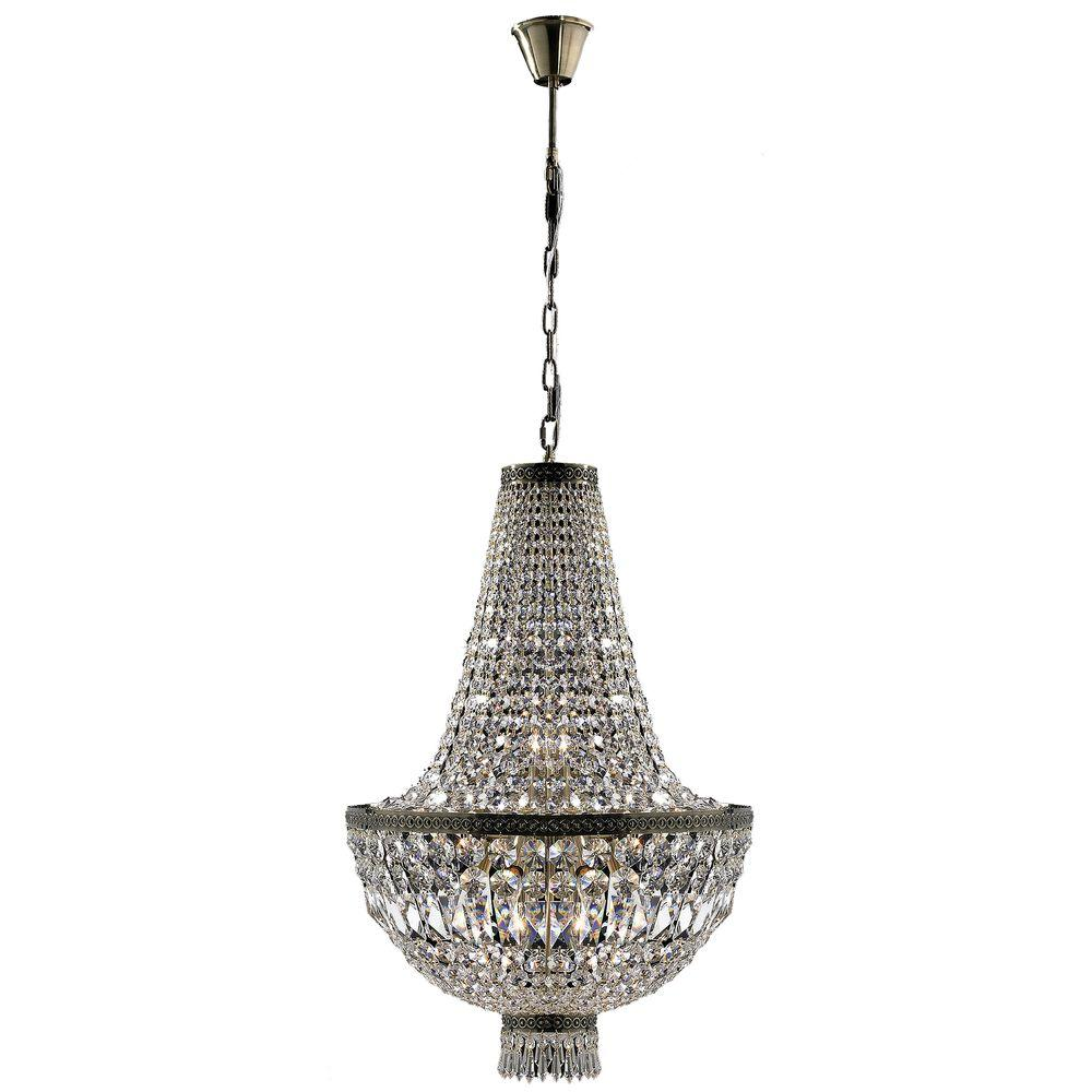 Worldwide Lighting Metropolitan Collection 8-Light Antique Bronze and Clear  Crystal Chandelier - Worldwide Lighting Metropolitan Collection 8-Light Antique Bronze