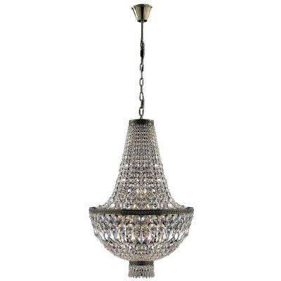 Metropolitan Collection 8-Light Antique Bronze and Clear Crystal Chandelier