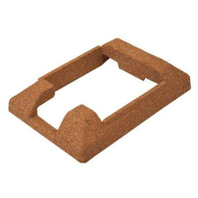 6 in. x 9 in. Ashland Red Cedar Composite Fence End Post Concrete Bracket Skirt