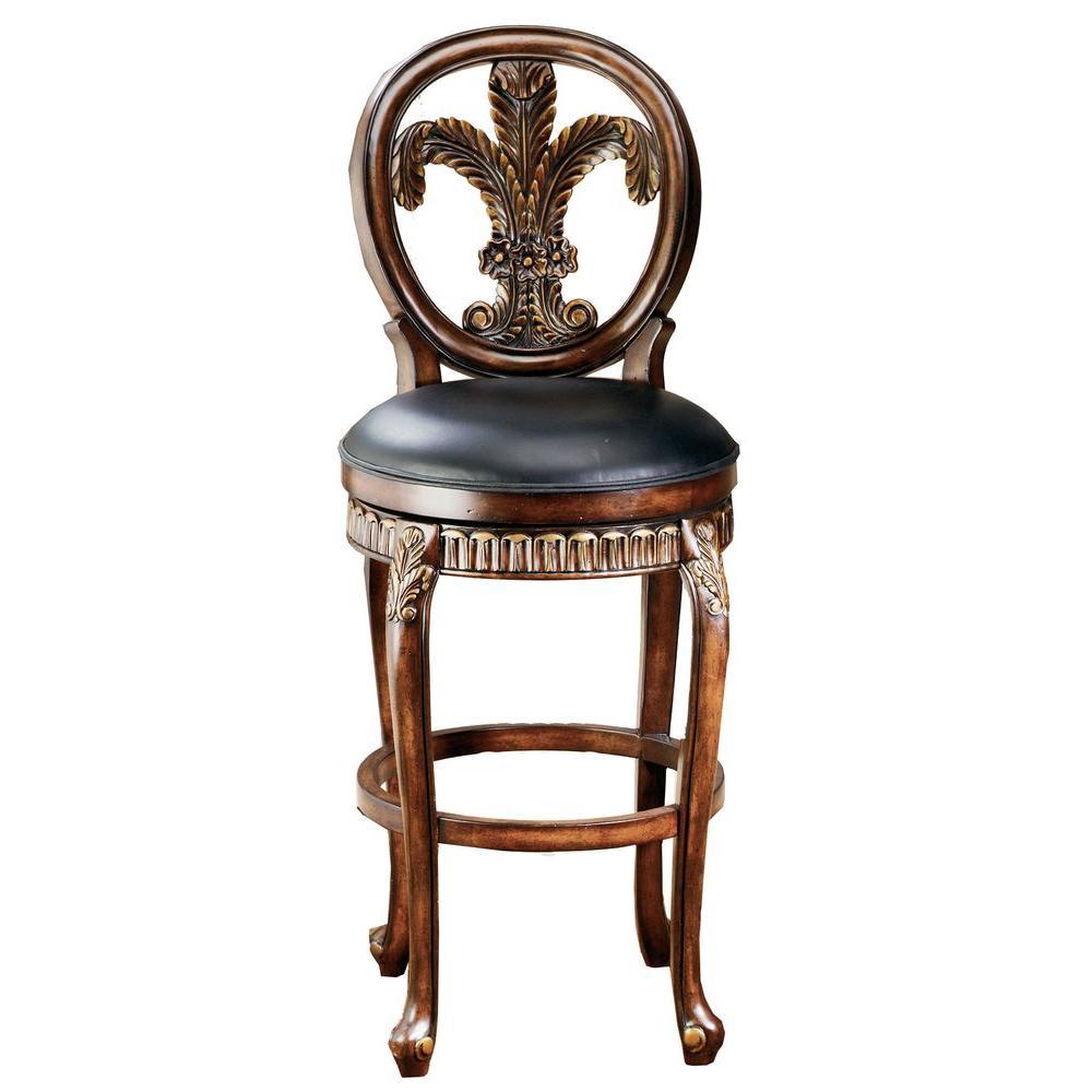 Hillsdale Furniture Fleur De Lis Swivel Counter Bar Stool
