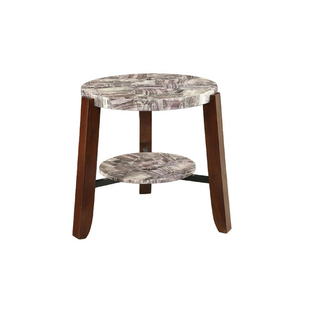 Lilith Cherry End Table