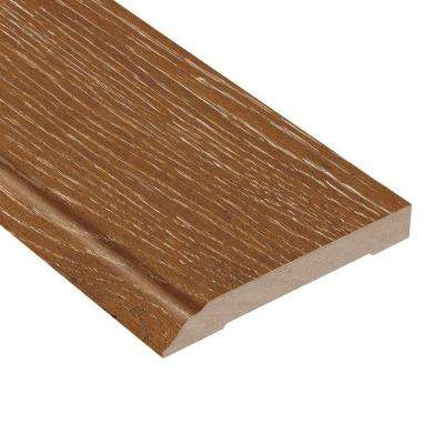 Wire Brushed Heritage Oak 1/2 in. Thick x 3-1/2 in. Wide x 94 in. Length Hardwood Wall Base Molding