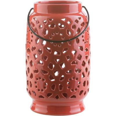 Kimba 11 in. Terracotta Ceramic Lantern