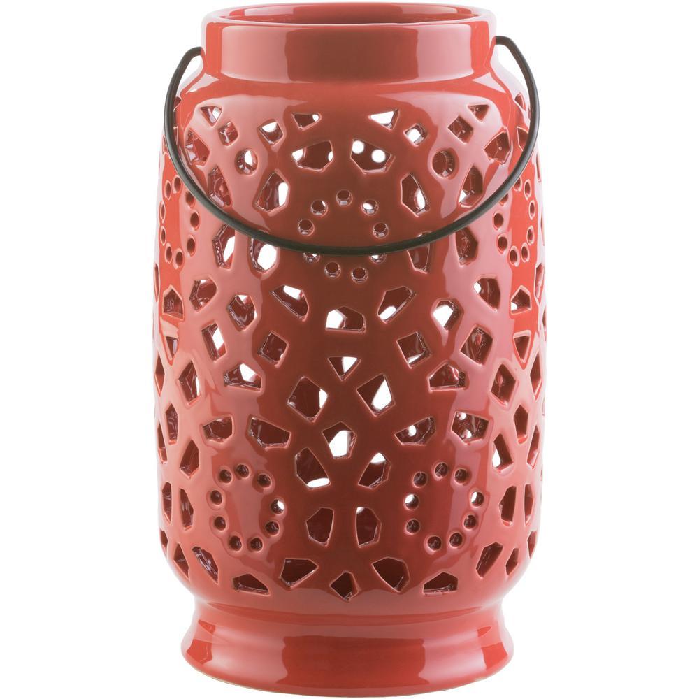 Artistic Weavers Kimba 11 in. Terracotta Ceramic Lantern