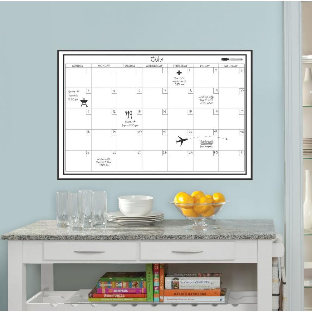 Monthly Calendar Board : Wallpops in white monthly calendar memo board