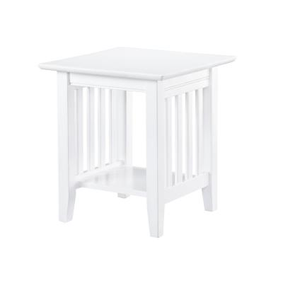 Mission White End Table