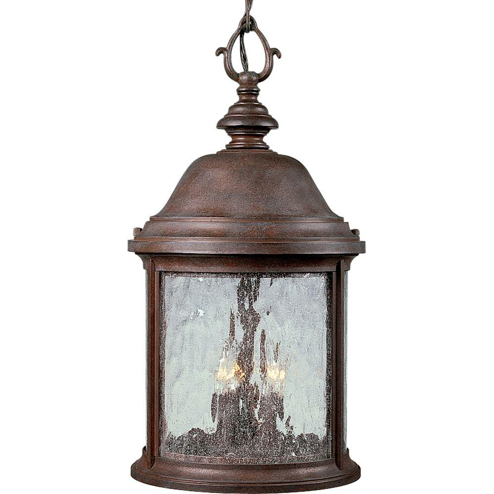 Progress Lighting Ashmore Collection Cobblestone 3-light Hanging Lantern-DISCONTINUED
