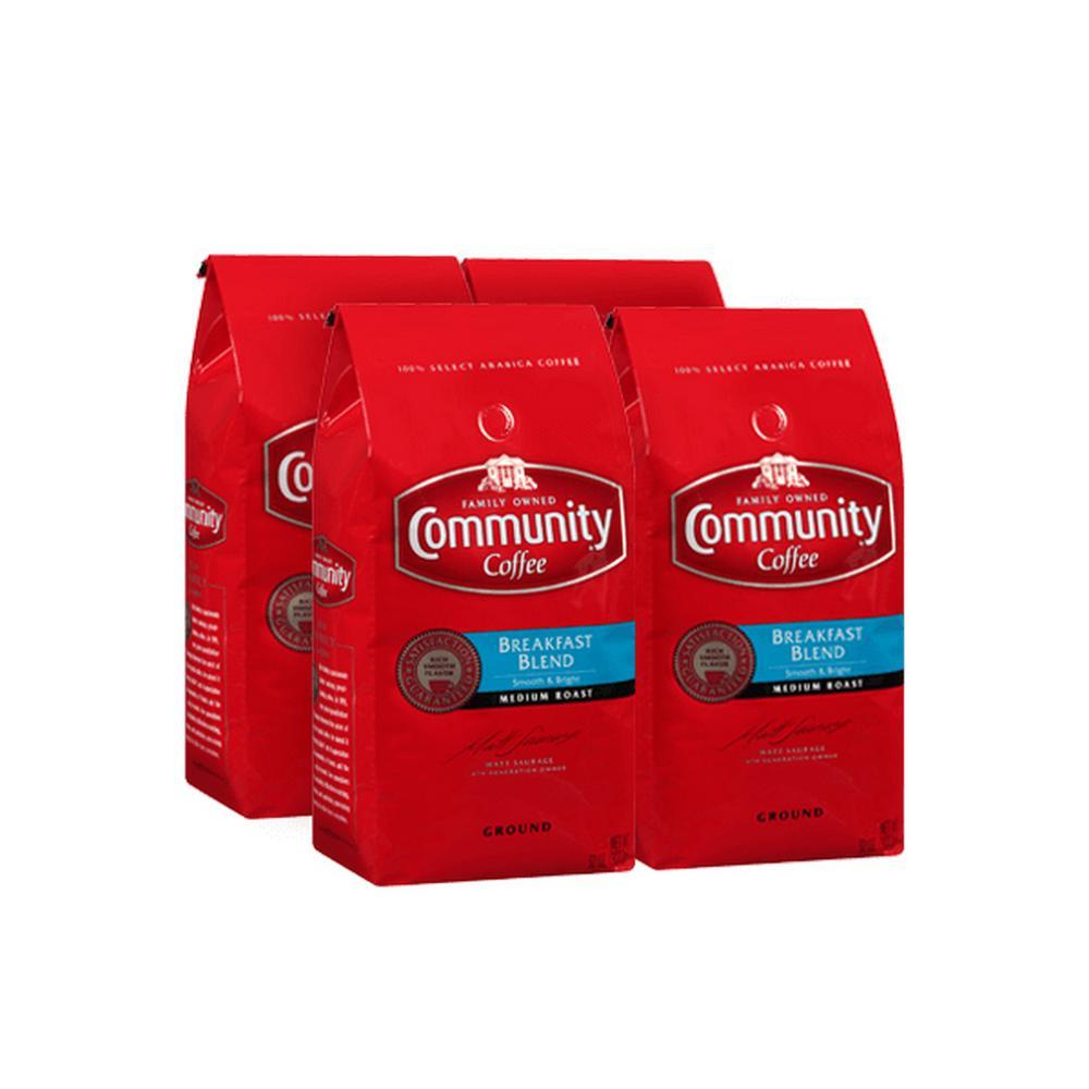 32 oz. Breakfast Blend Medium Roast Ground Coffee (4-Pack)
