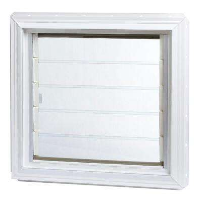 24 in. x 22.5 in. Jalousie Awning Vinyl Window in White