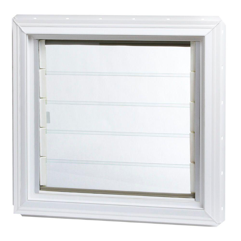 TAFCO WINDOWS 24 In X 225 Jalousie Vinyl Window