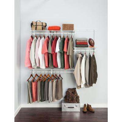 ShelfTrack 4 ft. to 6 ft. White Wire Closet Organizer Kit