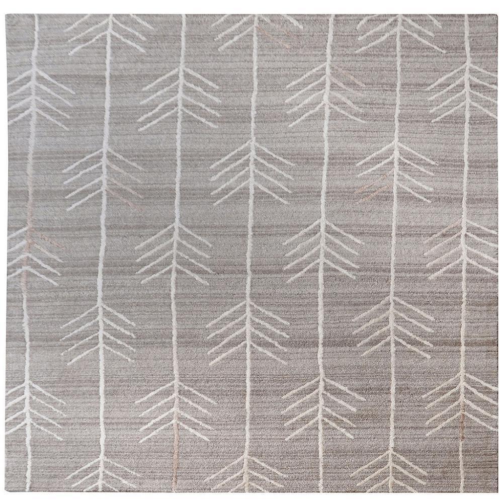 Armito Warm Grey 6 in. x 6 in. Indoor Square Area Rug