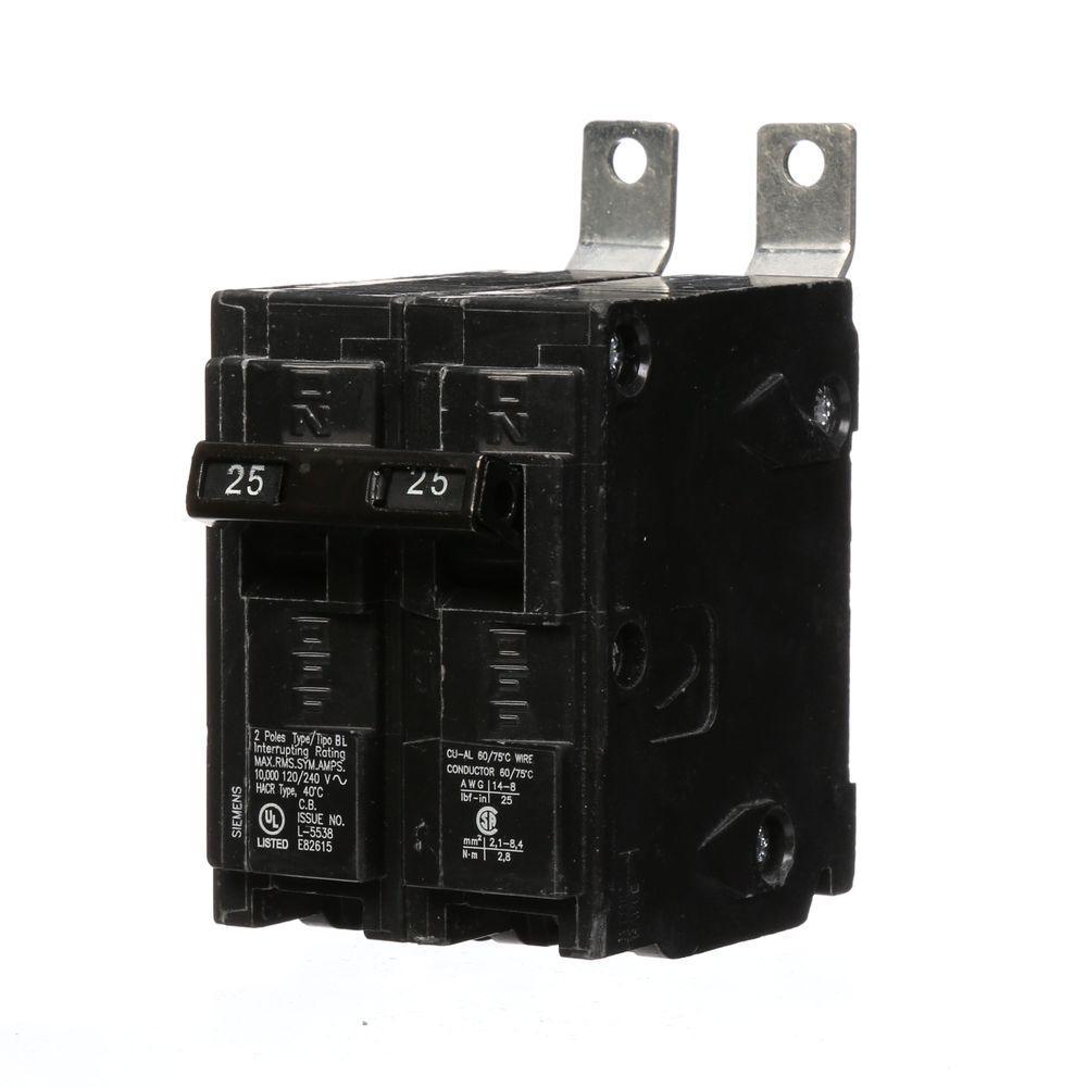 25 Amp 2-Pole Type BL Bolt-On-Circuit Breaker