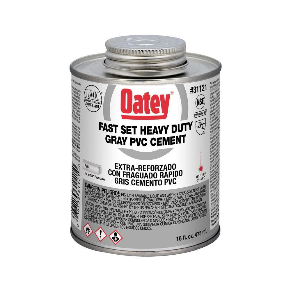 Oatey 16 oz Heavy Duty Gray PVC Cement