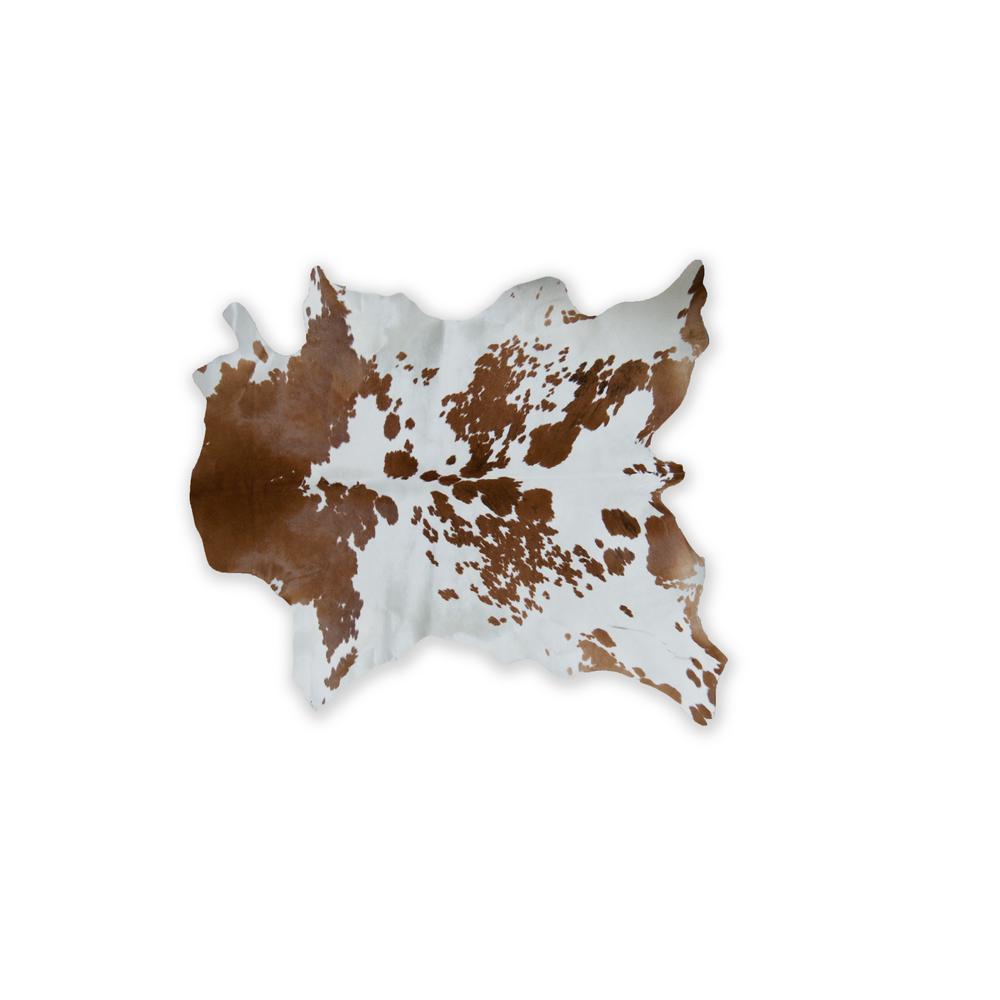 natural Natural CALFSKIN APPROX. 2' X 3' - S & P BROWN/WHITE