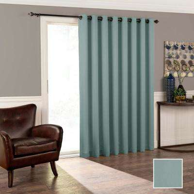 Tricia 84 in. L Polyester Curtain in River Blue