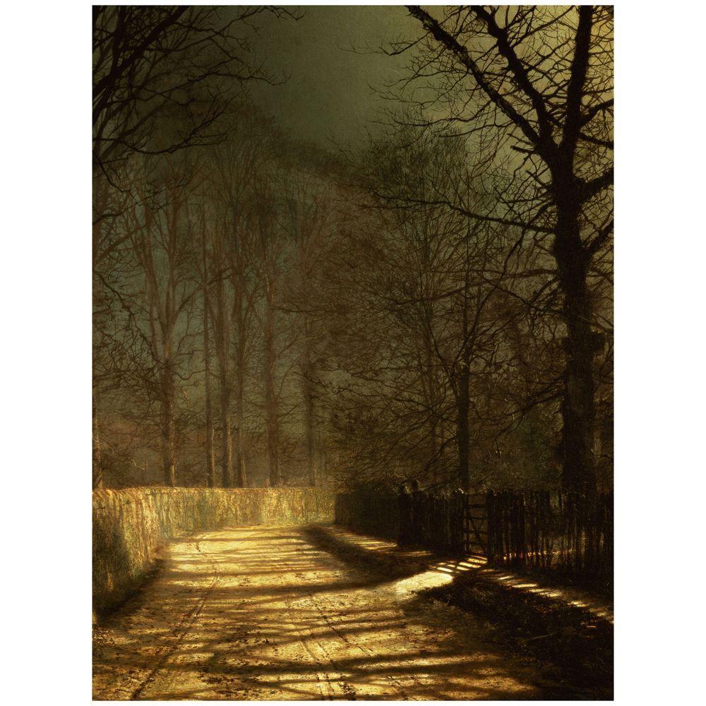 26 in. x 32 in. A Moonlit Lane Canvas Art