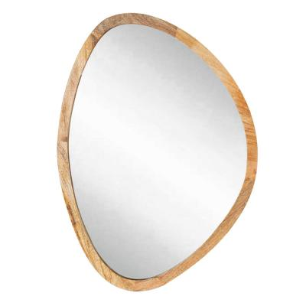 Medium Irregular Natural Contemporary Mirror (30.5 in. H x 22 in. W)