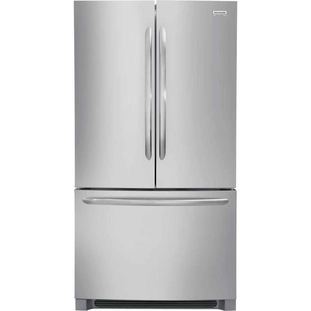 FRIGIDAIRE GALLERY 22.4 cu. ft. Non-Dispenser French Door Refrigerator in Smudge-Proof Stainless Steel Counter Depth