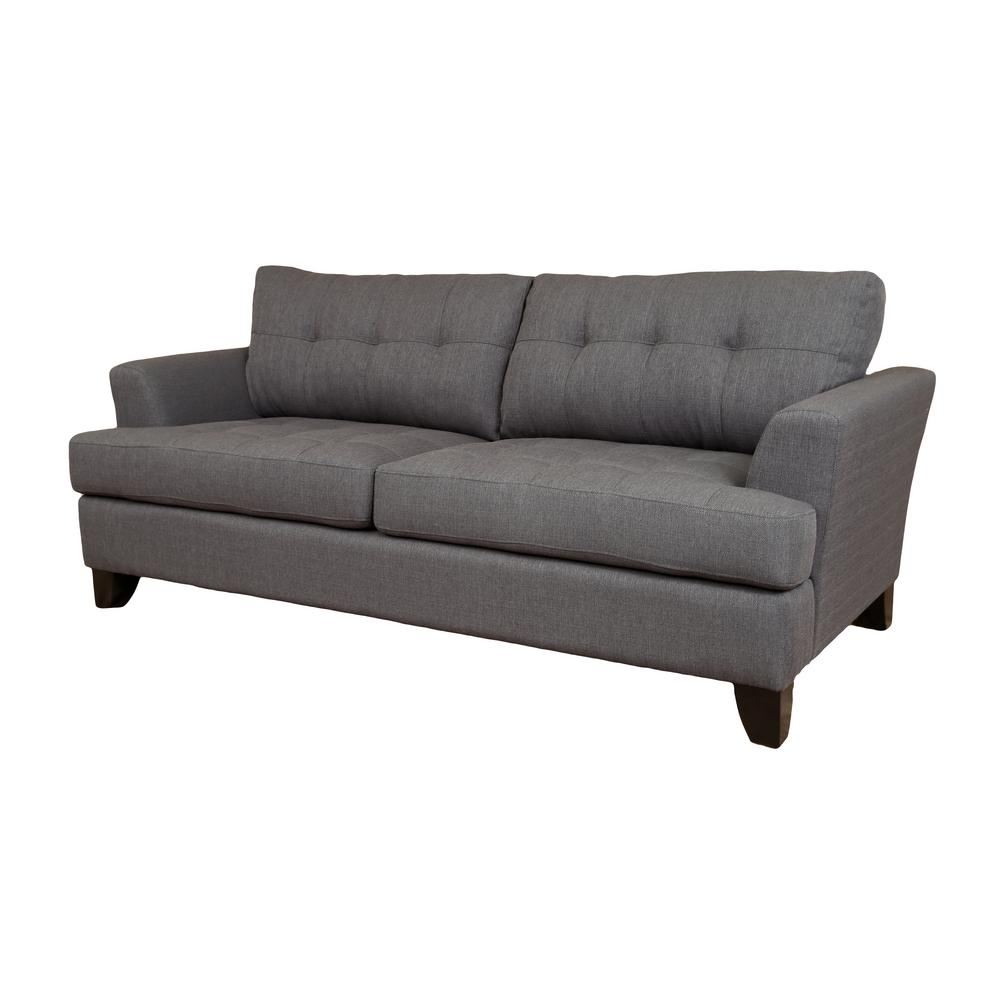Norwich Contemporary Tufted Sofa In Gray