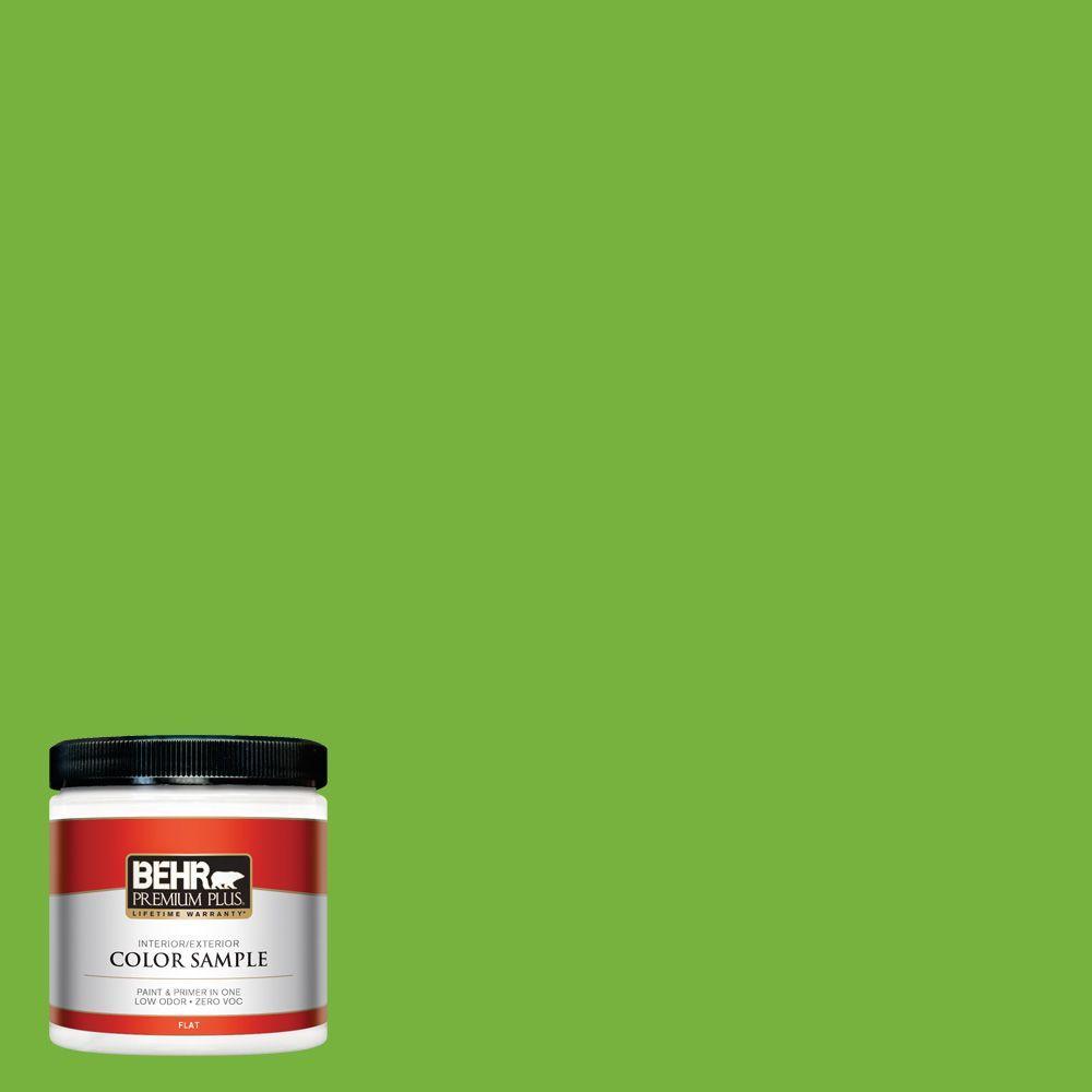 BEHR Premium Plus 8 oz. #S-G-430 Sparkling Apple Interior/Exterior Paint Sample