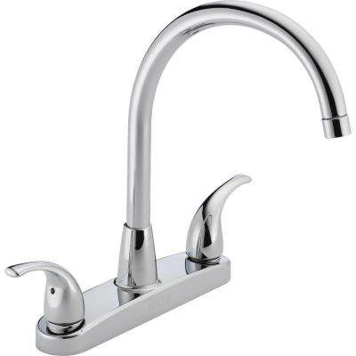 Choice 2-Handle Standard Kitchen Faucet in Chrome
