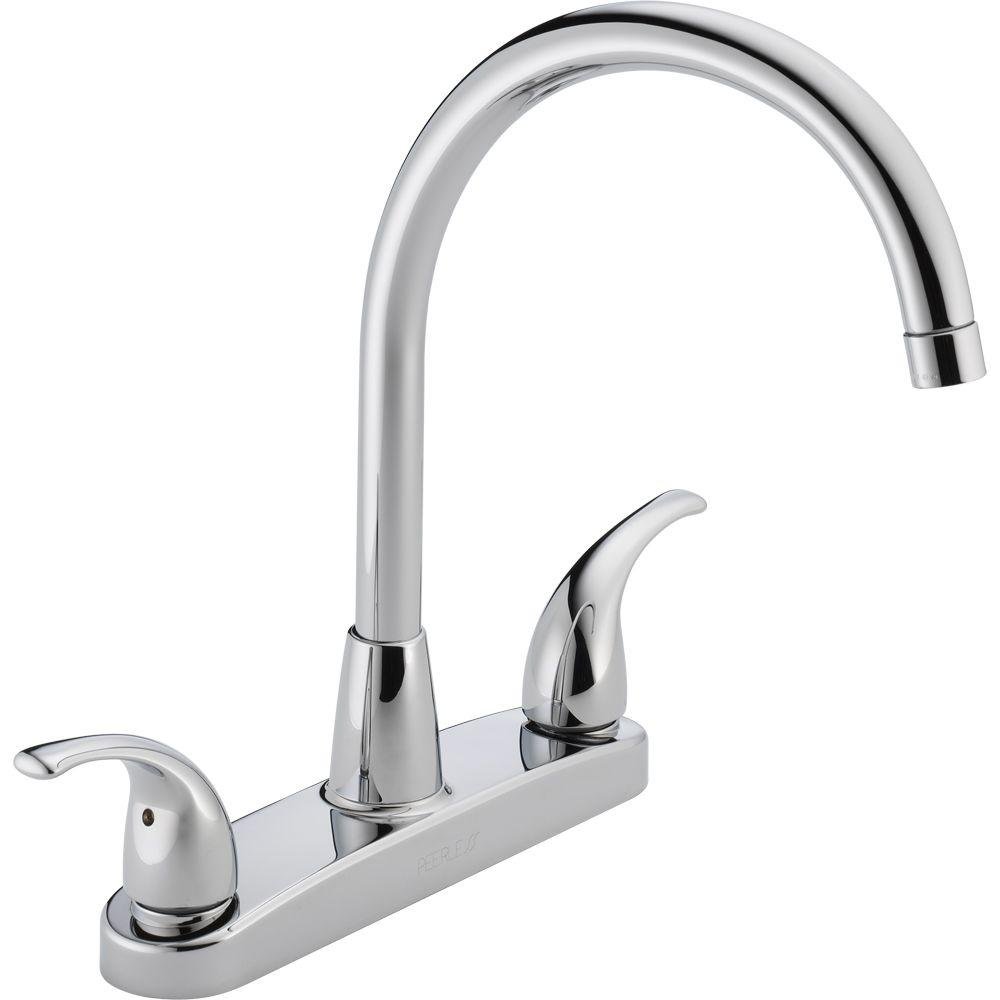 Peerless Choice 2-Handle Standard Kitchen Faucet in Chrome ...
