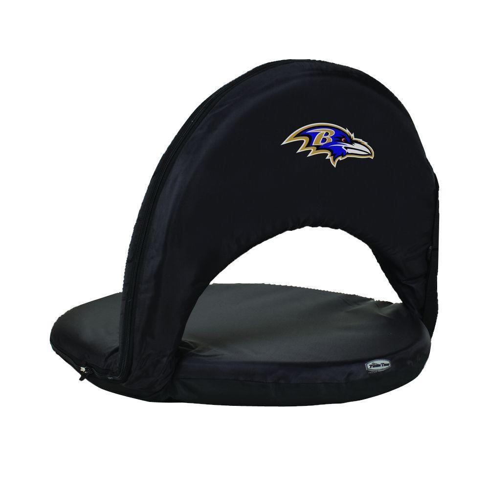 Oniva Baltimore Ravens Black Patio Sports Chair with Digital Logo