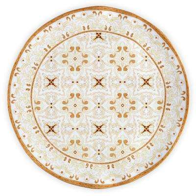 Talavera 16 in. Melamine Serving Platter in Beige