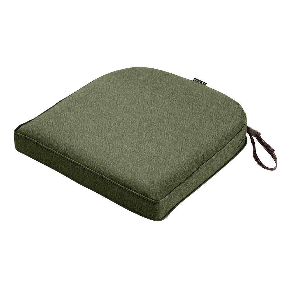 Montlake Fade Safe Heather Fern 18 in. Contoured Outdoor Seat Cushion