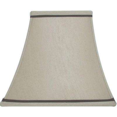 Lamp shades lamps the home depot mix match beige with brown trim square bell table shade greentooth Choice Image