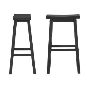 Surprising Stylewell Stylewell Black Wood Saddle Backless Bar Stool Gmtry Best Dining Table And Chair Ideas Images Gmtryco