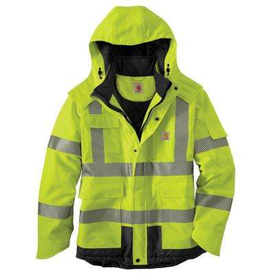 Men's X-Large Brite Lime Polyester HV WP Class 3 Insulated Sherwood Rain Jacket